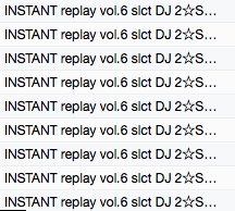 INSTANT replay vol.6